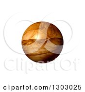 3d Brown Patterned Fractal Globe On White