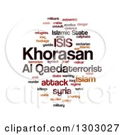 Clipart Of An ISIS And Al Qaeda Word Collage Over White Royalty Free Illustration by oboy