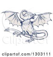 Clipart Of A Sketched Or Engraved Basilisk Monster Royalty Free Vector Illustration