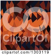 Clipart Of A Low Poly Abstract Geometric Background Of Persimmon Orange Royalty Free Vector Illustration