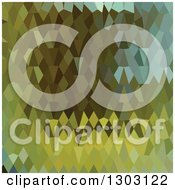 Clipart Of A Low Poly Abstract Geometric Background Of Moss Green Royalty Free Vector Illustration
