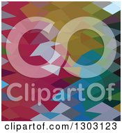 Clipart Of A Low Poly Abstract Geometric Background Of Maroon And Other Colors Royalty Free Vector Illustration