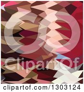 Clipart Of A Low Poly Abstract Geometric Background Of Vermillion Royalty Free Vector Illustration