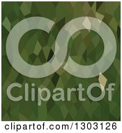 Clipart Of A Low Poly Abstract Geometric Background Of Jungle Green Royalty Free Vector Illustration