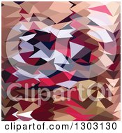 Clipart Of A Low Poly Abstract Geometric Background Of Alabaster Royalty Free Vector Illustration