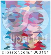 Clipart Of A Low Poly Abstract Geometric Background Of Aqua Ruby Red Royalty Free Vector Illustration