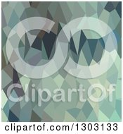 Clipart Of A Low Poly Abstract Geometric Background Of Egyptian Blue Terraces Royalty Free Vector Illustration