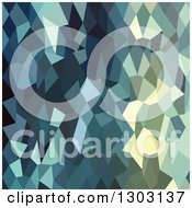 Clipart Of A Low Poly Abstract Geometric Background Of Catalina Blue Royalty Free Vector Illustration