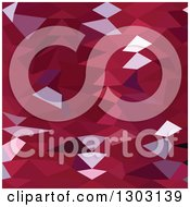 Clipart Of A Low Poly Abstract Geometric Background Of Carmine Red Royalty Free Vector Illustration