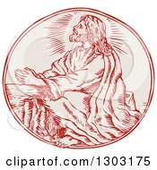 Clipart Of A Sketched Or Engraved Scene Of Jesus Agony In The Garden Royalty Free Vector Illustration by patrimonio