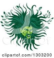 Green Man With A Leafy Mane