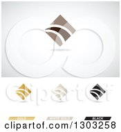 Abstract Corporate Finance Diamond Themed Logos With Shadows