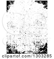 Clipart Of A Border Of Distressed Grunge Royalty Free Vector Illustration