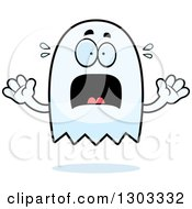 Clipart Of A Cartoon Scared Ghost Character Screaming Royalty Free Vector Illustration