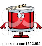 Clipart Of A Cartoon Surprised Musical Drums Character Gasping Royalty Free Vector Illustration