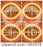 Seamless Pattern Background Of Abstract Oval Tiles