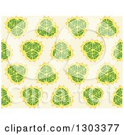 Clipart Of A Seamless Pattern Background Of Fruits Royalty Free Vector Illustration by Cherie Reve