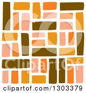 Seamless Pattern Background Of Brown And Orange Bricks