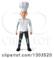 Clipart Of A 3d Young White Male Chef Royalty Free Illustration by Julos