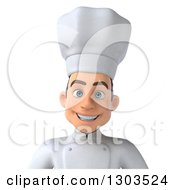 Clipart Of A 3d Happy Young Smiling White Male Chef Avatar Royalty Free Illustration