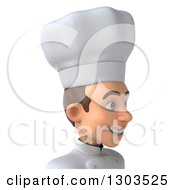 Clipart Of A 3d Happy Young White Male Chef Avatar Facing Right Royalty Free Illustration