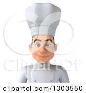 Clipart Of A 3d Happy Young White Male Chef Avatar Royalty Free Illustration