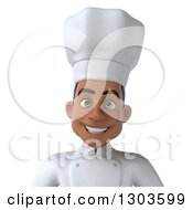 Clipart Of A 3d Happy Young Black Male Chef Avatar Royalty Free Illustration