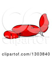 Clipart Of A Red Cartoon Crab Facing Right And Waving Royalty Free Illustration by Julos