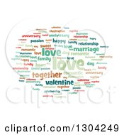 Clipart Of A Pastel Love Word Tag Collage On White Royalty Free Illustration
