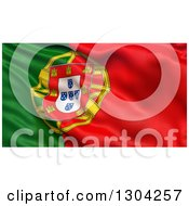 Clipart Of A 3d Rippling Flag Of Portugal Background Royalty Free Illustration