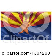 Clipart Of A 3d Rippling State Flag Of Arizona Royalty Free Illustration