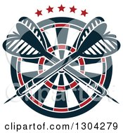 Clipart Of A Target With Crossed Darts And Stars Royalty Free Vector Illustration by Vector Tradition SM
