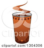 Clipart Of A Take Out Coffee Cup Royalty Free Vector Illustration by Vector Tradition SM