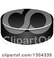 Clipart Of A Hockey Puck 2 Royalty Free Vector Illustration