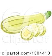 Cartoon Zucchini And Slices