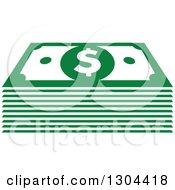 Clipart Of Green Cash Money 2 Royalty Free Vector Illustration