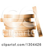 Clipart Of A 3d Stack Of Copper Coins 3 Royalty Free Vector Illustration