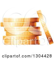 Clipart Of A 3d Stack Of Golden Coins 3 Royalty Free Vector Illustration