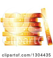 Clipart Of A 3d Stack Of Golden Coins Royalty Free Vector Illustration