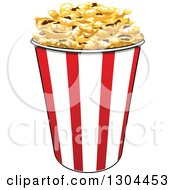 Clipart Of A Popcorn Bucket 2 Royalty Free Vector Illustration by Vector Tradition SM