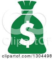 Clipart Of A Green Money Bag With A Dollar Symbol Royalty Free Vector Illustration by Vector Tradition SM