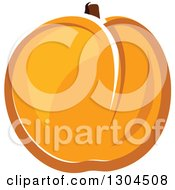 Clipart Of A Cartoon Apricot Fruit 2 Royalty Free Vector Illustration