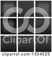 Clipart Of Carbon Fiber Textures Royalty Free Vector Illustration