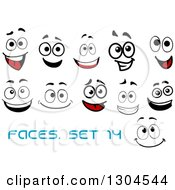 Clipart Of Faces With Different Expressions And Text 14 Royalty Free Vector Illustration