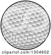 Clipart Of A Textured Golf Ball Royalty Free Vector Illustration