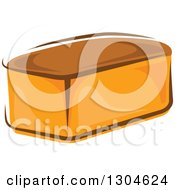 Clipart Of A Whole Bread Loaf Royalty Free Vector Illustration