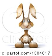 Clipart Of A 3d Brown Bunny Rabbit Royalty Free Illustration by Julos
