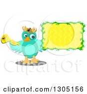 Bird Holding A Trumpet And Sign