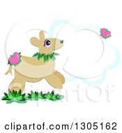 Deer With Floral Hearts And A Cloud