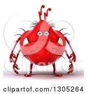3d Red Germ Monster